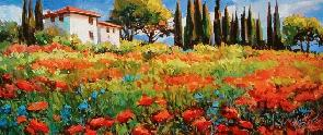 Red Poppies, Tuscany