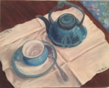 Tea Time in Blue