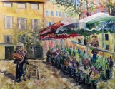 Market Day in Aix en Provence (original, giclee, notecard/magnet sets)