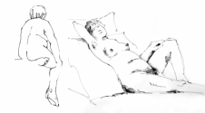 Life Drawing Sketch by Gerry Nicol