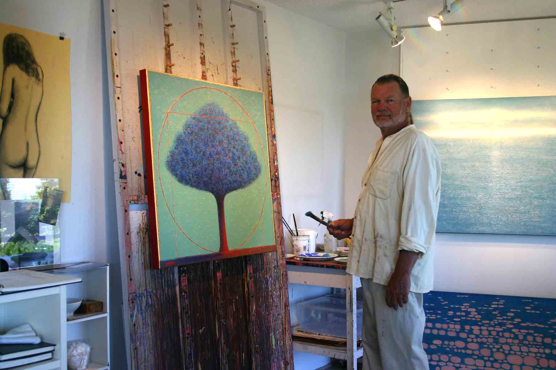 Barry Shelton in his Studio