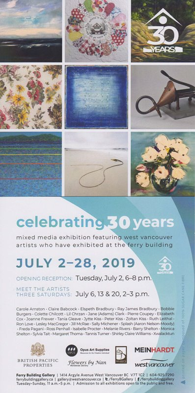 30 Years 30 Artists - Ferry Building Gallery 2019